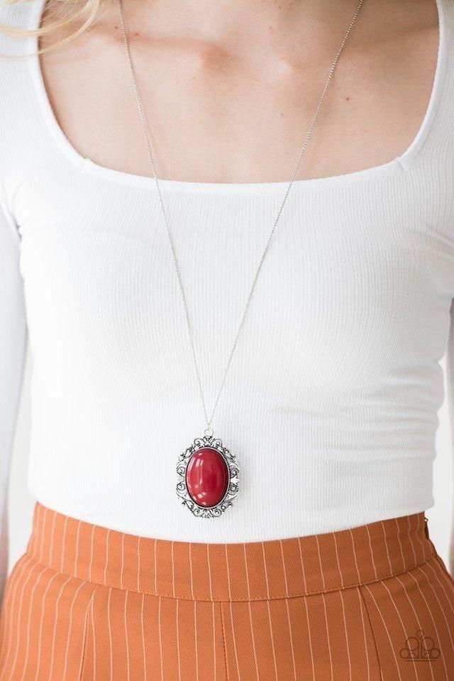 Vintage Vanity - Red Necklace