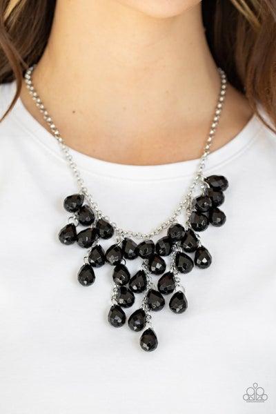 Serenely Scattered - Black Necklace