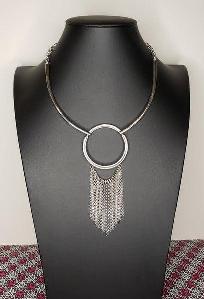 Pharaoh Paradise - Silver Necklace