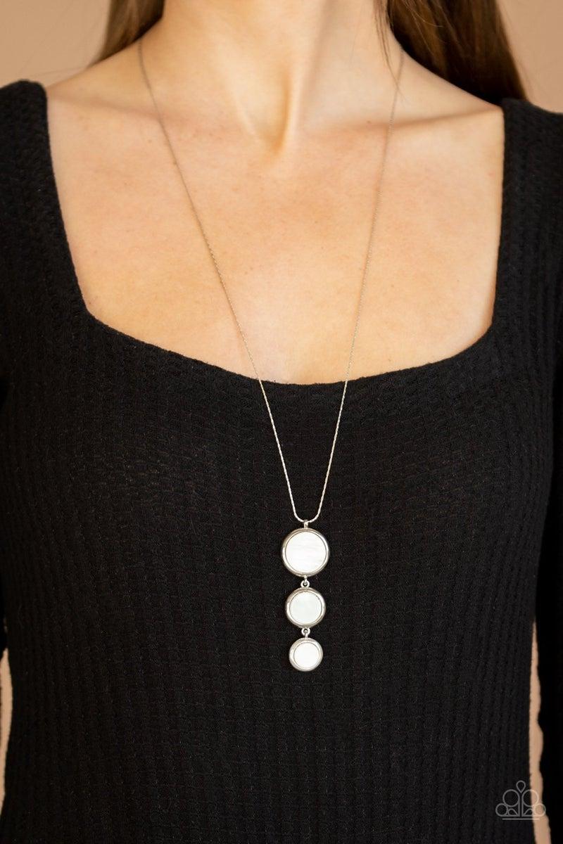 Summer Shores - White Necklace