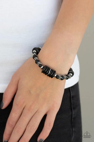Sagebrush Serenade – Black Stretchy Bracelet