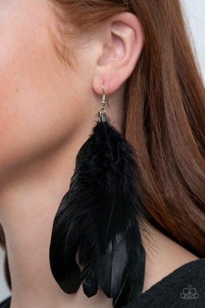 I BOA To No One - Black Earrings
