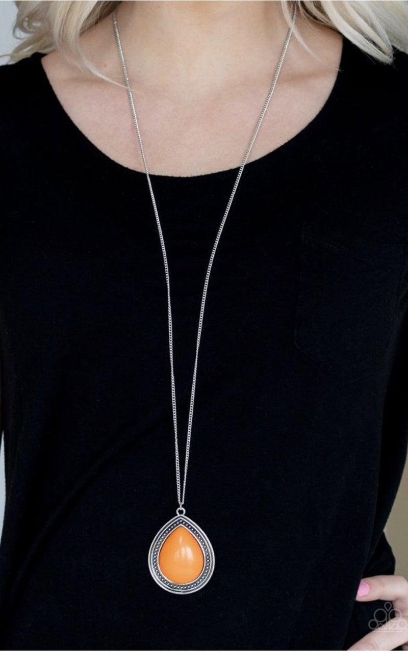 Chroma Courageous - Orange Necklace