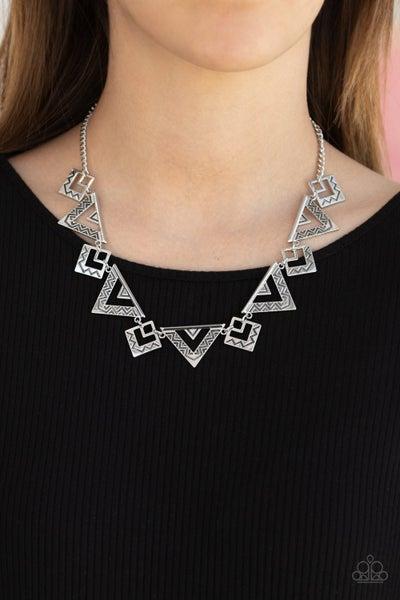 Giza Goals - Silver Necklace