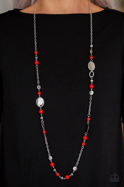 Serenely Springtime – Red Necklace