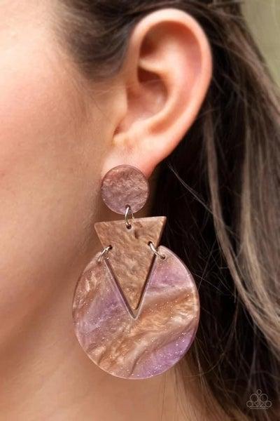 Head Under WATERCOLORS - Brown Earrings