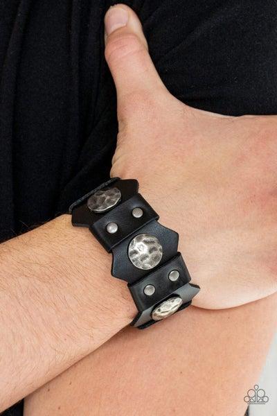 Electrified Edge - Black Urban Bracelet
