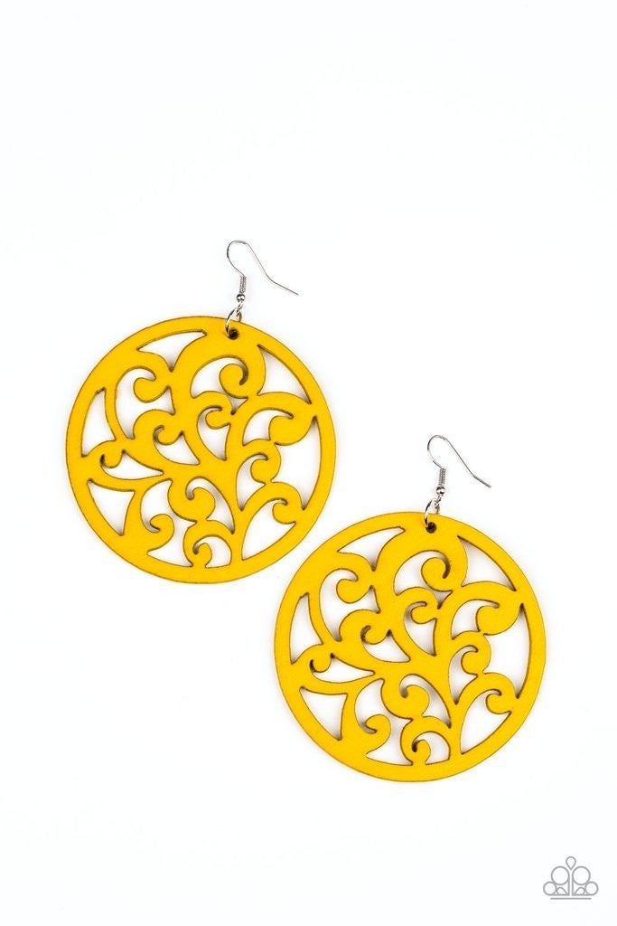 Fresh Off the Vine - Yellow Earrings