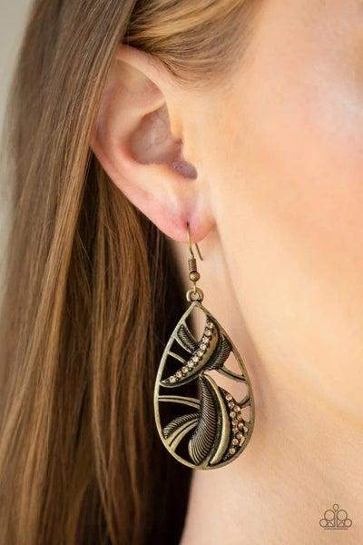 Underestimated - Brass Earrings
