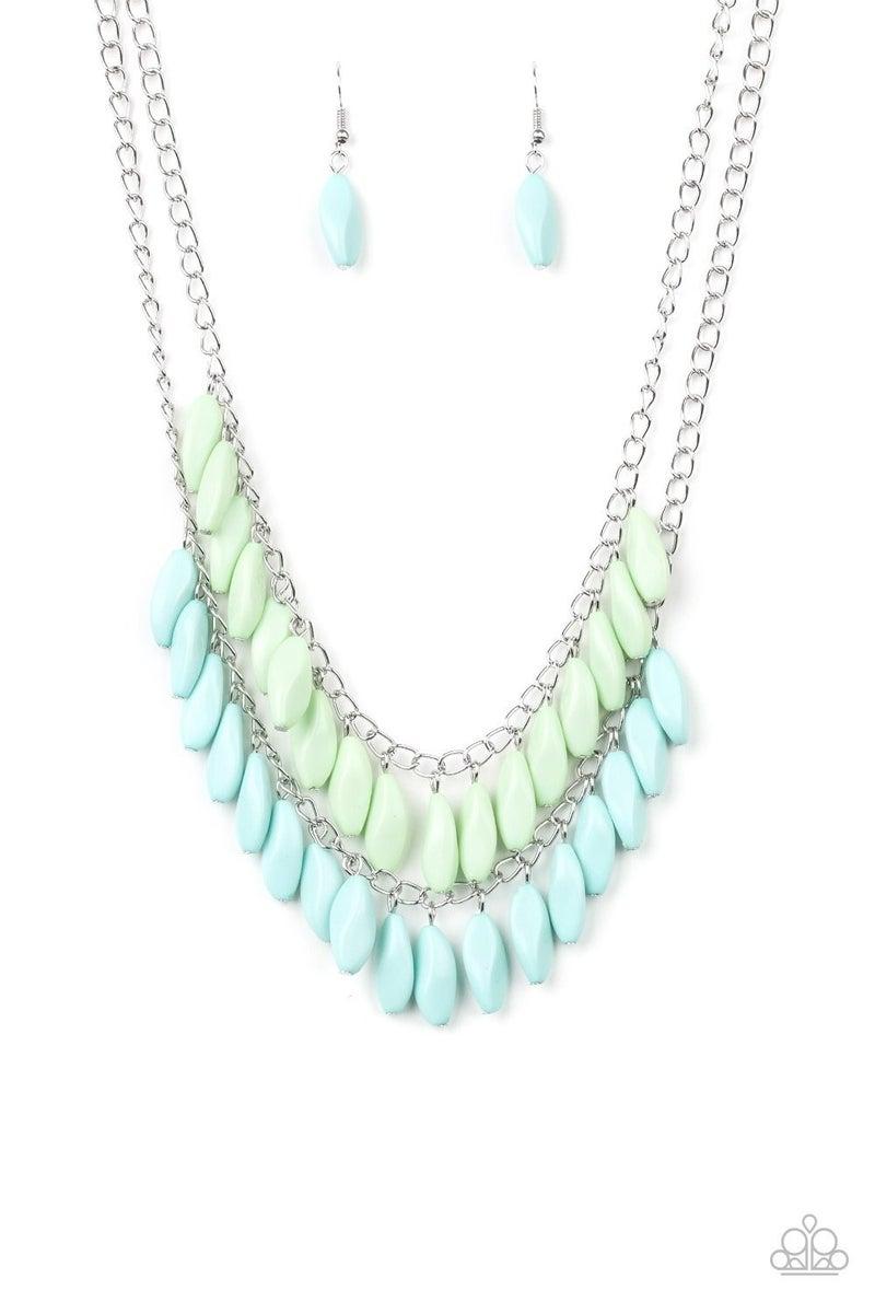 Beaded Boardwalk - Blue Necklace