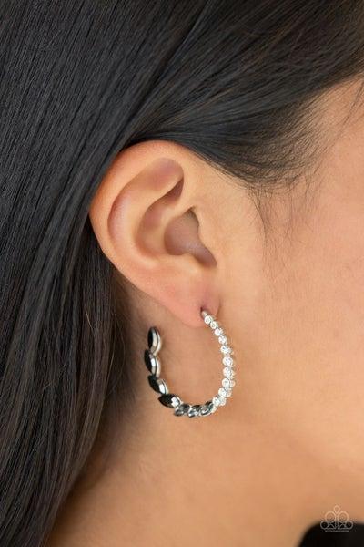 Prime Time Princess - Black Hoop Earrings