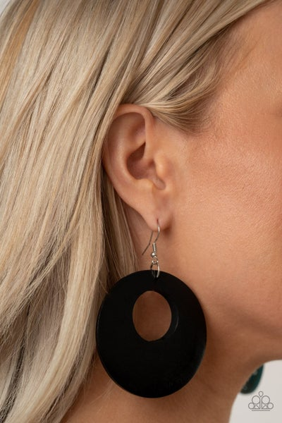Island Hop - Black Earrings