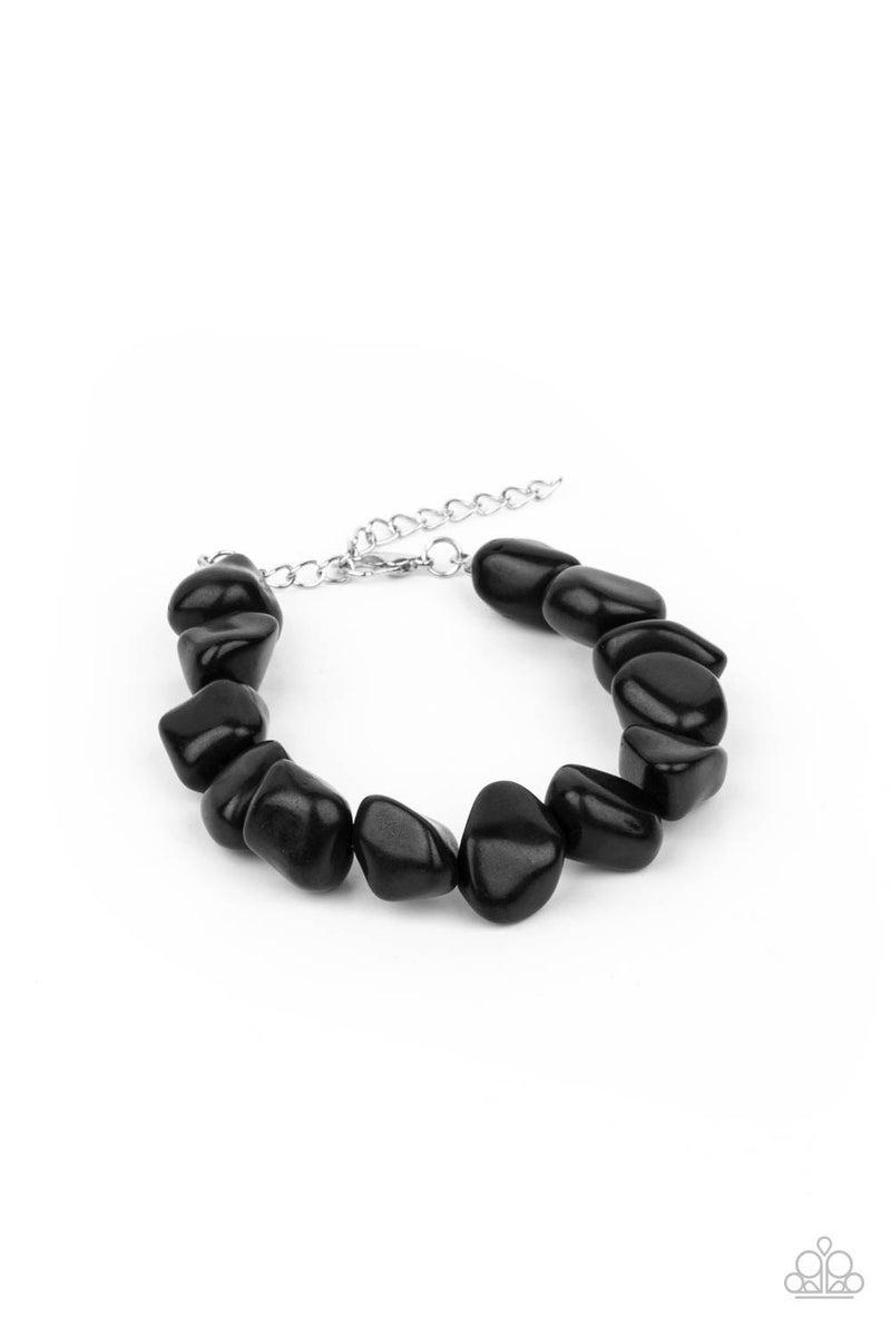 Prehistoric Paradise - Black Clasp Bracelet