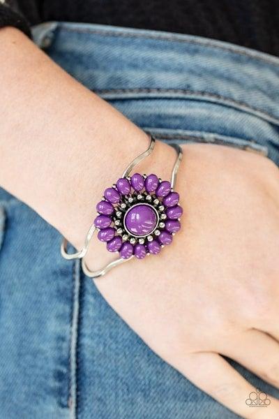 Posy Pop - Purple Hinged Bracelet