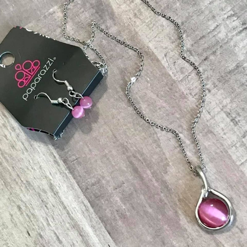Fairy Lights - Pink Necklace