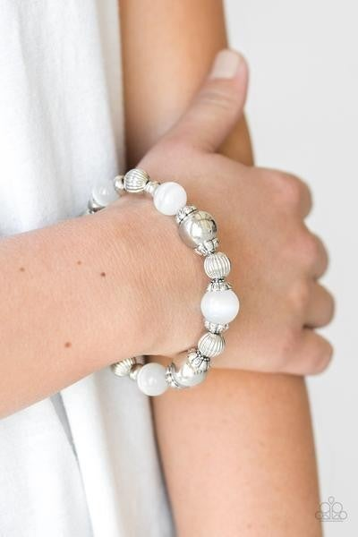 Once Upon A MARITIME - White Stretchy Bracelet