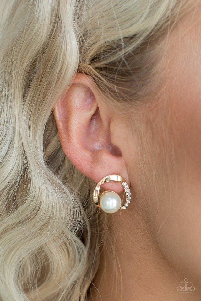 Stylishly Suave - Gold Earrings