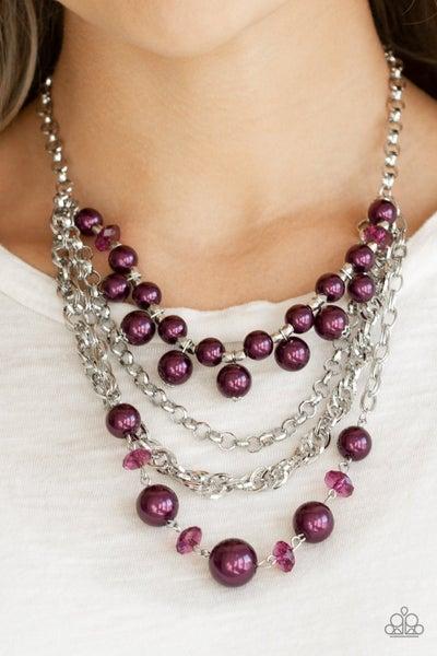 Rockin Rockette - Purple Necklace