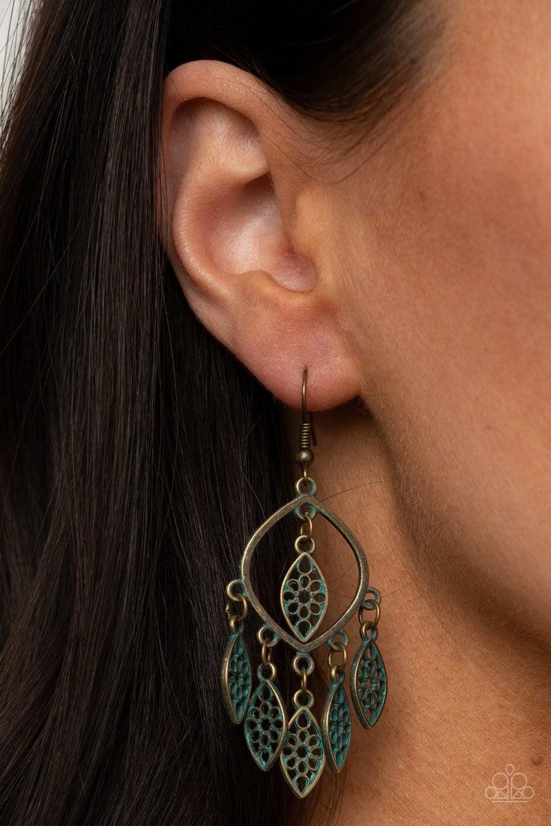 Artisan Garden - Brass Earrings