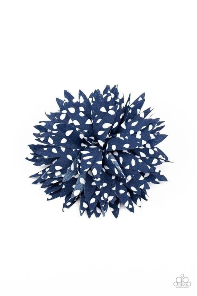 Polka Panache - Blue Hair Clip
