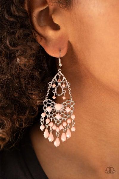 Glass Slipper Glamour - Pink Earrings