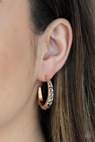 Welcome to Glam Town- Gold Hoop Earrings