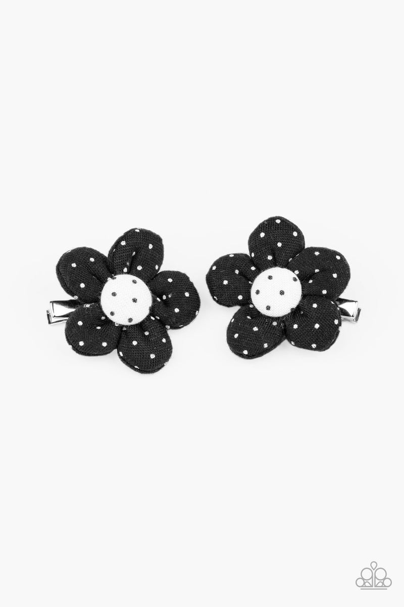 Polka Dotted Delight - Black Hair Clip