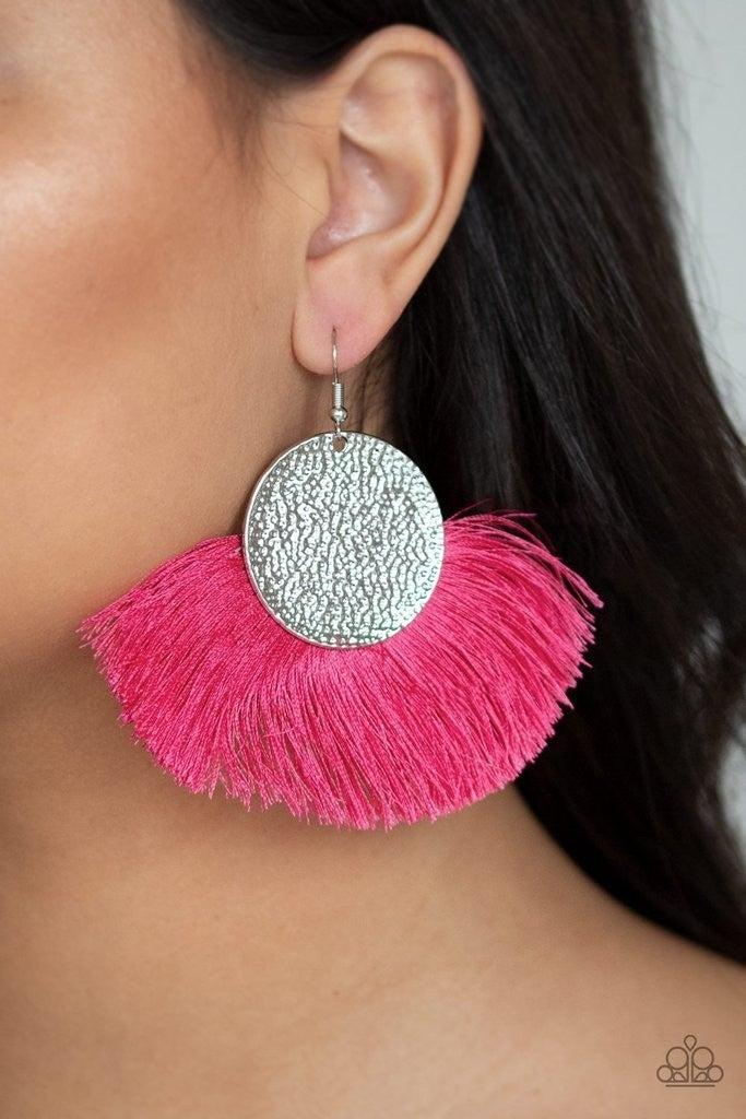 Foxtrot Fringe - Pink Earrings