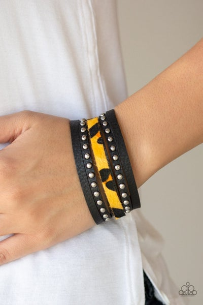 Born To Be WILDCAT - Yellow Snap Wrap