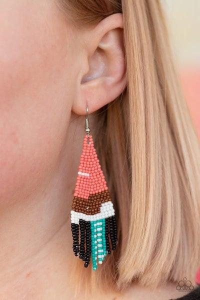 Summer Heat - Orange Earrings