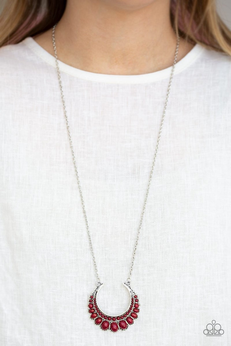 Count To ZEN - Red Necklace