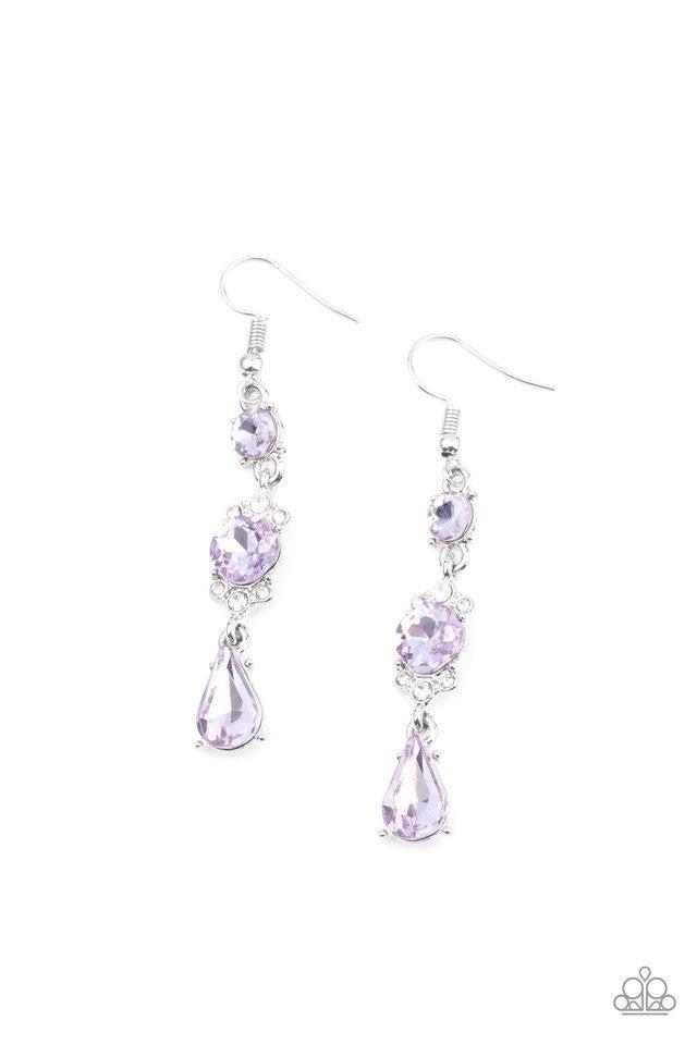 Outstanding Opulence - Purple Earrings