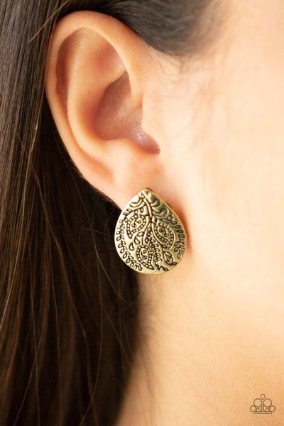 Seasonal Bliss - Brass Earrings