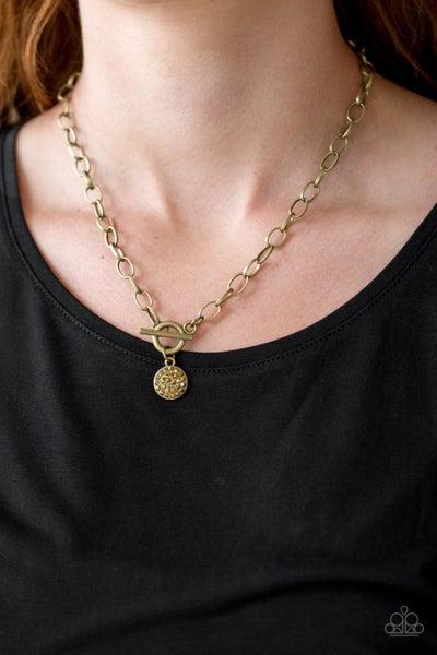 Sorority Sisters - Brass Necklace