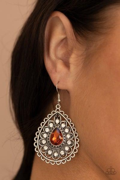 Eat, Drink, and BEAM Merry - Brown Earrings
