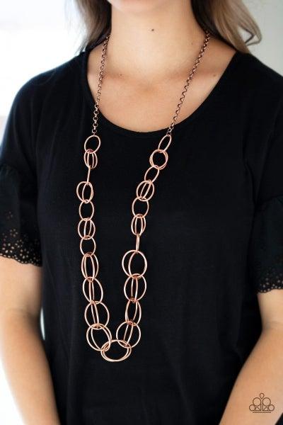 Elegantly Ensnared - Copper Necklace