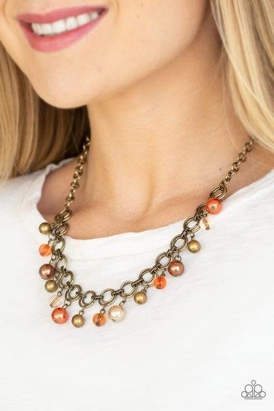 Fiercely Fancy - Brass Necklace