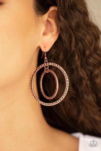 Fiercely Focused - Copper Earrings