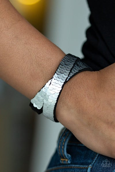Under the Sequins - Silver Snap Wrap