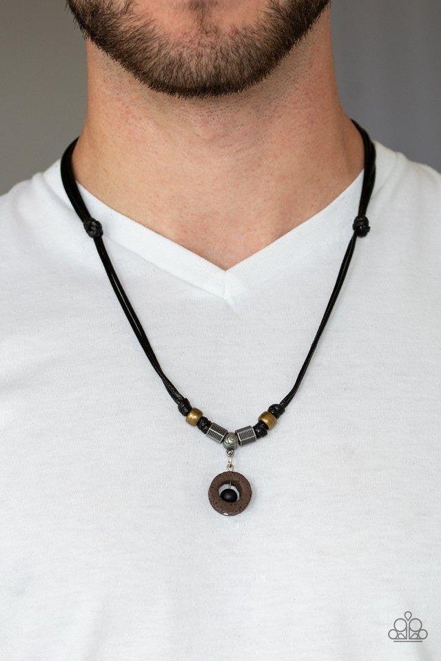 Tiki Thunder - Black Urban Necklace