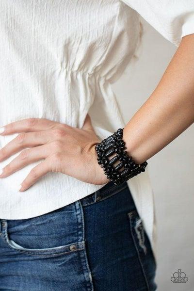 Fiji Flavor - Black Stretchy Bracelet