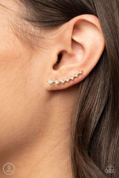 New Age Nebula - Gold Earrings