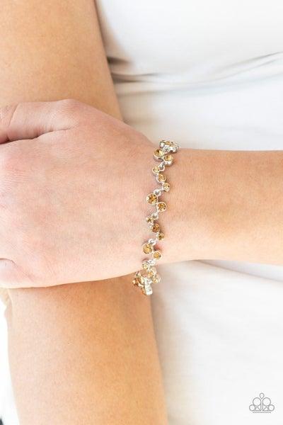 Starlit Stunner - Brown Clasp Bracelet