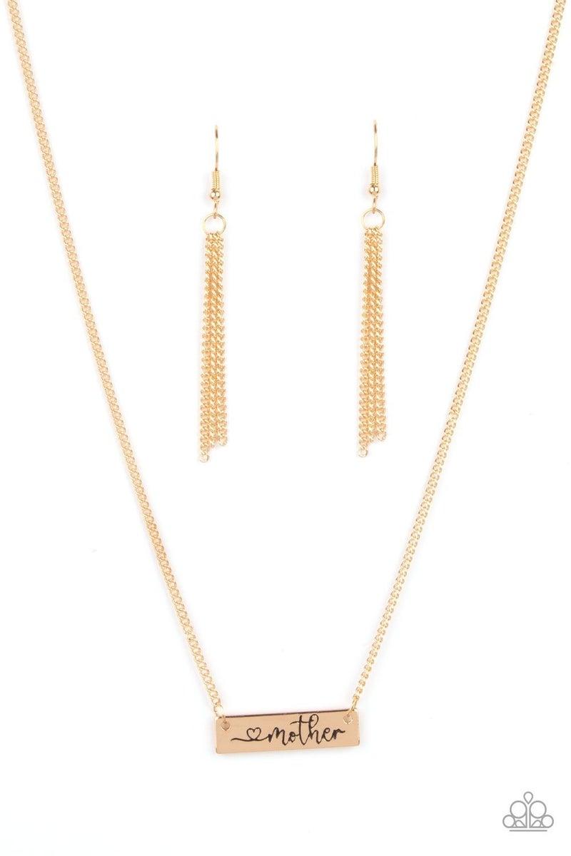 Joy Of Motherhood - Gold Necklace