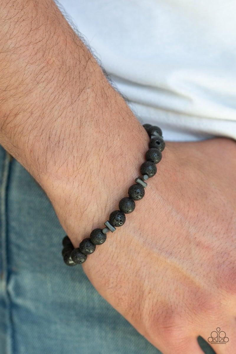 Renewed - Black Lava Bracelet