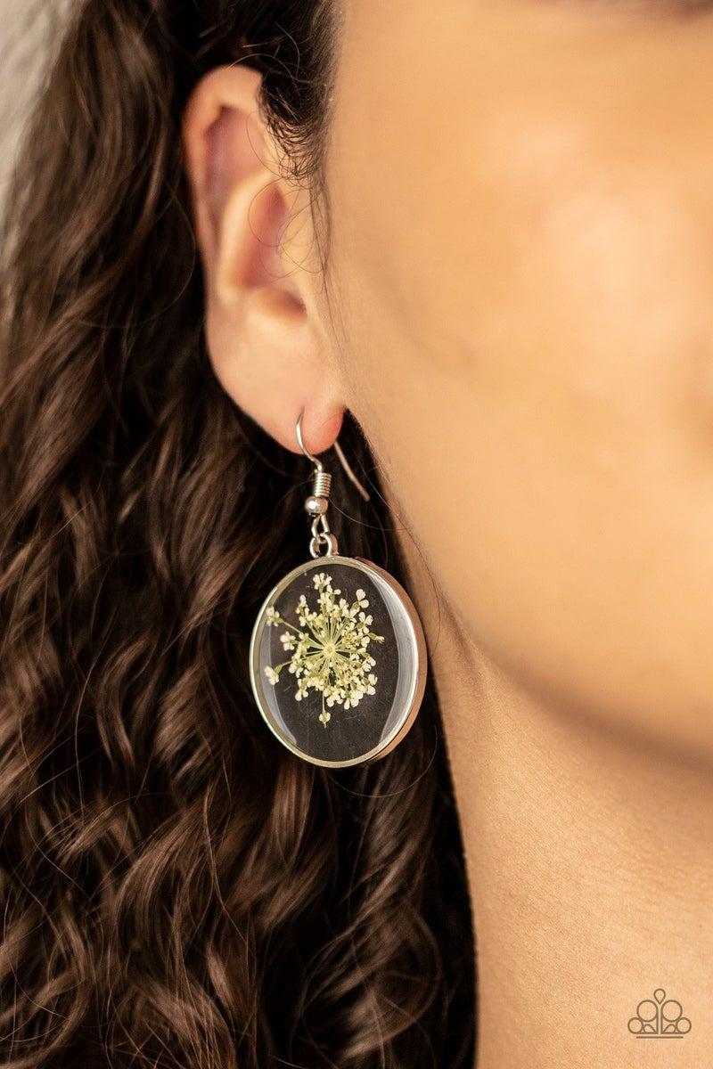 Happily Ever Eden - White Earrings