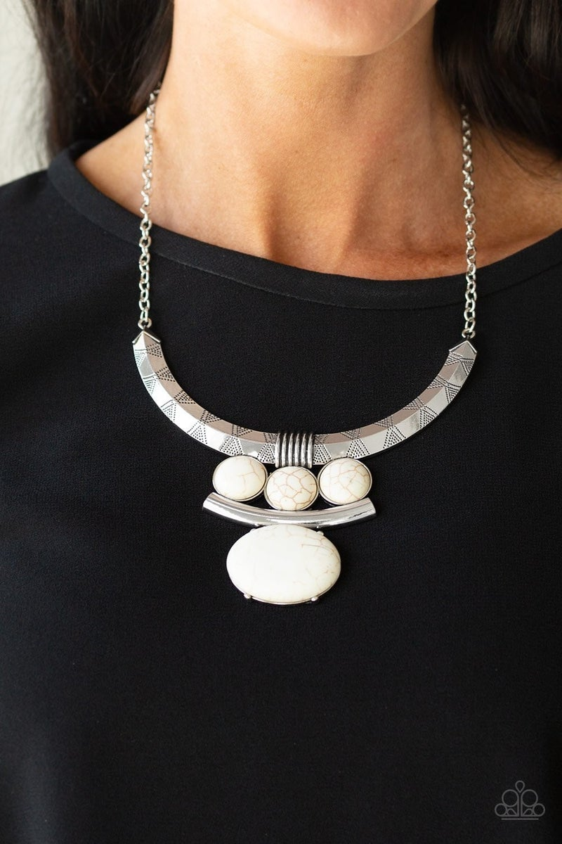 Commander In CHIEFETTE - White Necklace