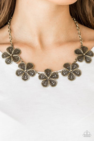 No Common Daisy - Brass Necklace