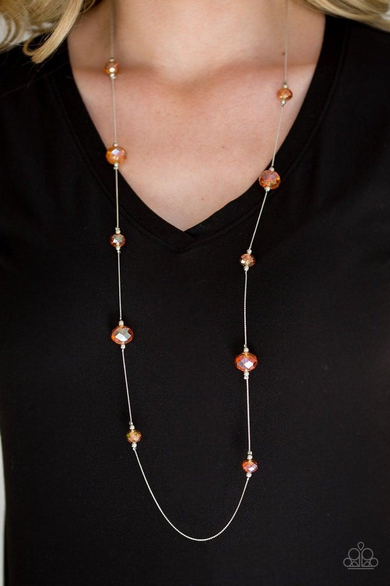 Champagne On The Rocks - Orange Necklace