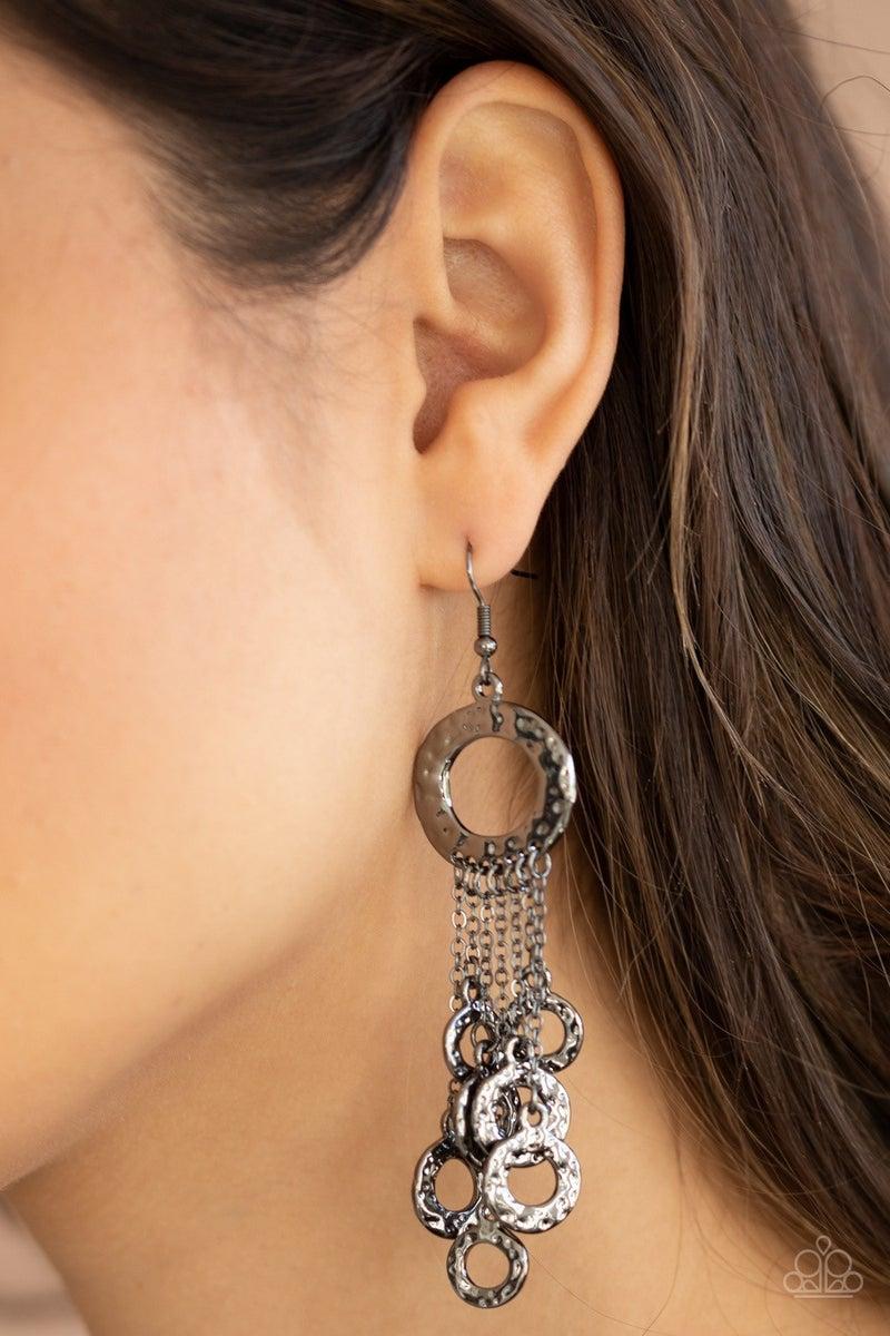 Right Under Your NOISE - Gunmetal Earrings
